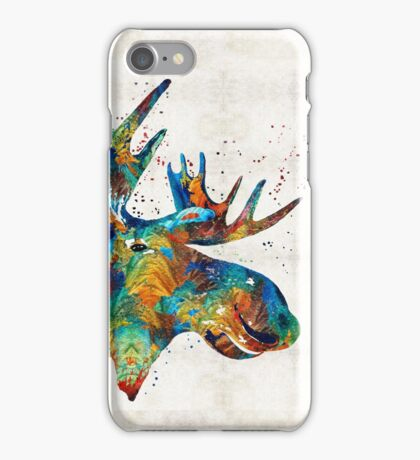Colorful Moose Art - Confetti - By Sharon Cummings iPhone Case/Skin
