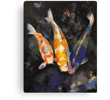 Three Koi Fish Canvas Print