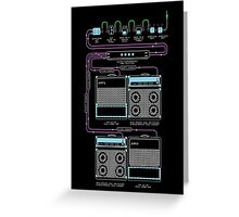Wall of Sound Greeting Card