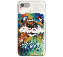 Otter Art - Ottertude - By Sharon Cummings iPhone Case/Skin