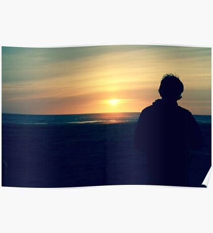 Sunset Sky Silhouettes Poster