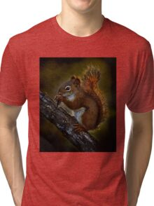 Red Squirrel - Photoshop Manipulation Tri-blend T-Shirt