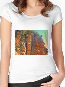 bright rock Women's Fitted Scoop T-Shirt