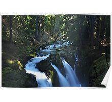 Sol Duc Falls; Winter Light Poster