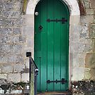 Narrow Green Door by relayer51