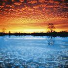 sunset reflection 2 by Lildudette016