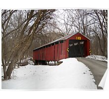Charlton Mill Covered Bridge, View 2 Poster