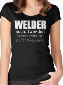 Funny Welder Definition T Shirt Women's Fitted Scoop T-Shirt