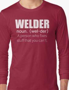 Funny Welder Definition T Shirt Long Sleeve T-Shirt