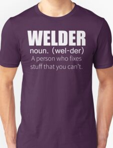 Funny Welder Definition T Shirt T-Shirt