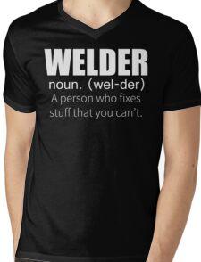 Funny Welder Definition T Shirt Mens V-Neck T-Shirt