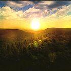 sunset scene by Lildudette016