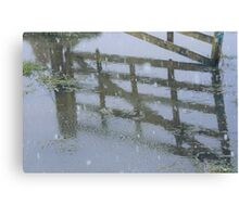 Reflection of a Winter Scene. Canvas Print