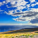 Windmills, Coast & Clouds by MightyGeekMan