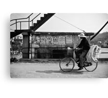 Riding The Bicycle - China Canvas Print