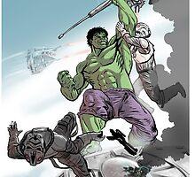 Hulk Smash ATAT by Shane Kirshenblatt