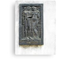 Querido Paco, Memorial Plaque from the Recoleta Cemetery Canvas Print