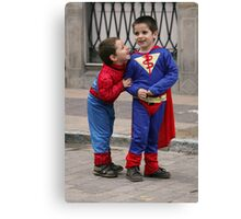 Super heroes!. Canvas Print