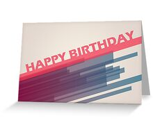 Modern Happy Birthday Card Greeting Card