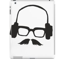 Hipster Face Portrait Music Mustache Glasses iPad Case/Skin