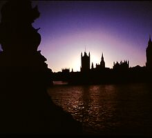 Palace of Westminster at Sunset, London. by Clive Gross