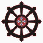 dharma wheel of life by RavenDesmond
