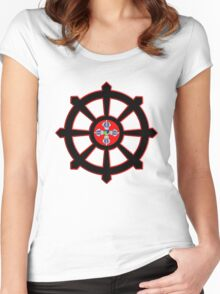 dharma wheel of life Women's Fitted Scoop T-Shirt