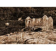 Lighthouse Keepers Cottage Textured Photographic Print