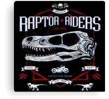 Jurassic World Raptor Riders Biker Insignia Canvas Print