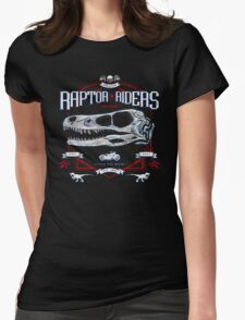 Jurassic World Raptor Riders Biker Insignia Womens Fitted T-Shirt