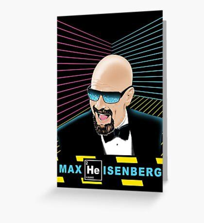 Heisenberg / Max Headroom Mashup Greeting Card
