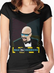 Heisenberg / Max Headroom Mashup Women's Fitted Scoop T-Shirt