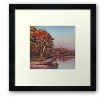 Early morning, Lake Cathie Framed Print
