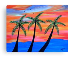 """Sunset Palms"" Canvas Print"