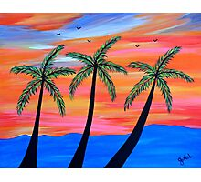 """Sunset Palms"" Photographic Print"