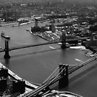 Brooklyn and Manhattan Bridges by Mark Van Scyoc