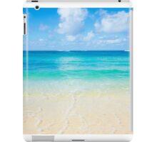 Gentle wave on the sandy Poipu beach in Hawaii iPad Case/Skin