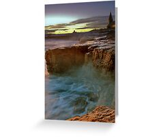 Gothic Sunset, Church Point, Northumberland Greeting Card