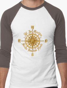 """PC Gamer's Compass - """"Death is Only the End of the Game"""" Men's Baseball ¾ T-Shirt"""