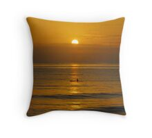 Fancy an early morning paddle - Forster NSW Throw Pillow