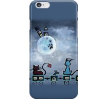 Picken Midnight Train To The Moon - For Children Paintings by Valentina Miletic iPhone Case/Skin