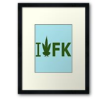 I Love FK Framed Print