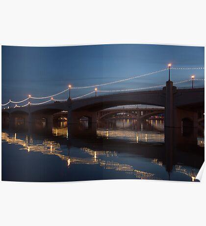 """ Tempe Town Bridge"" Poster"