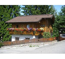 Typical Mountain Chalet Photographic Print