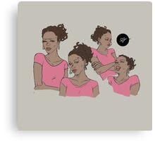 Pink survivor - Rochelle Canvas Print