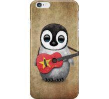 Baby Penguin Playing Vietnamese Flag Guitar iPhone Case/Skin