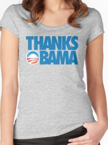 Thanks Obama Women's Fitted Scoop T-Shirt