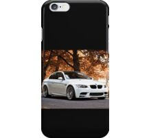 White BMW M3 Fall Edition iPhone Case/Skin