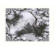Tree Fractal Image Art Print