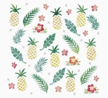 Pineapple Island watercolor design Kids Clothes